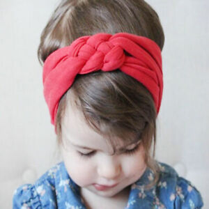 Turban-Knot-Cotton-Head-Wrap-Children-Headband-HairBand-Headwear-Cross
