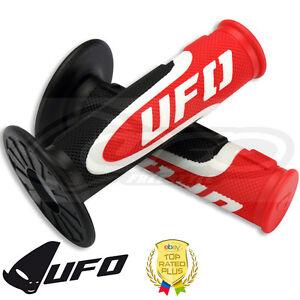 UFO-axioma-Grips-Triple-Densidad-Apretones-Motocross-apretones-de-manillar-rojo-blanco