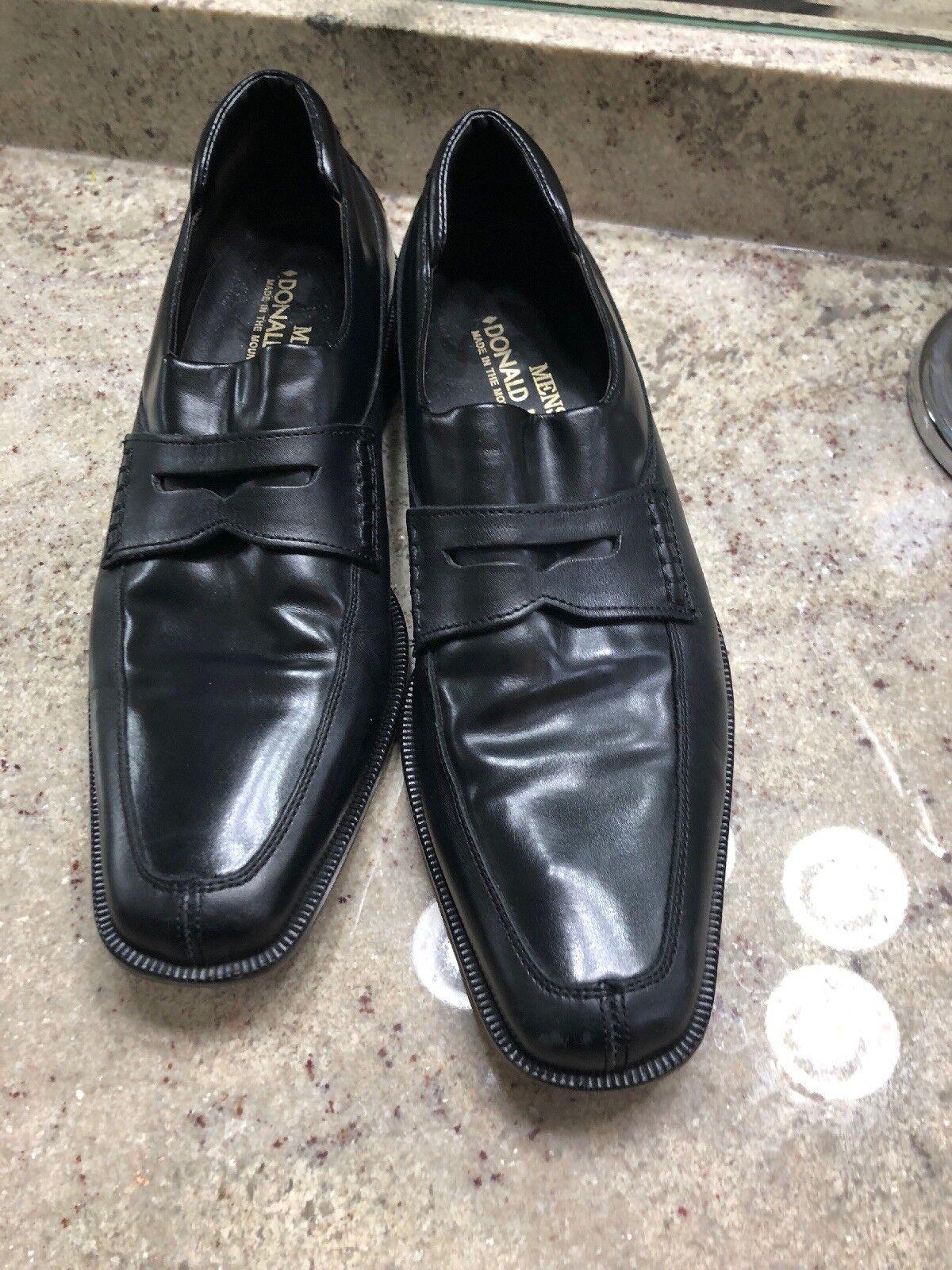 Donald J. Pliner RUM 8 1 2 M Black calf grain leather