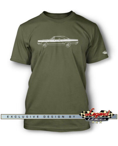 1969 Plymouth GTX Coupe T-Shirt for Men Multiple Colors /& Sizes American Car