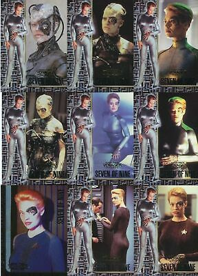 "Star Trek Voyager Profiles 8 Card /""7 of 9 Seven Of Nine/"" Part Set 1-6 /& 8-9"