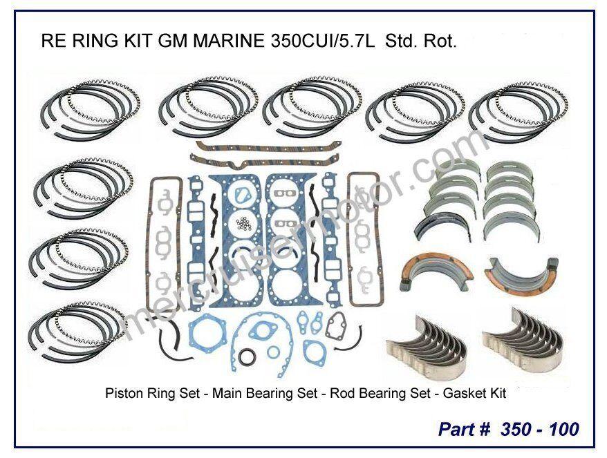 Mercruiser 260  Kolbenring & Lager Ueberholung fuer V8  5.7L Motore