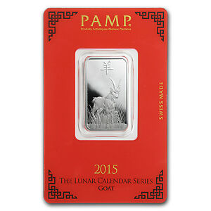 10 Gram Silver Bar Pamp Suisse Year Of The Goat Sku