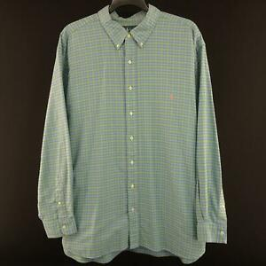 Mens-Polo-Ralph-Lauren-Classic-Fit-Green-Oxford-Golf-Dress-Shirt-Size-3XB-Big