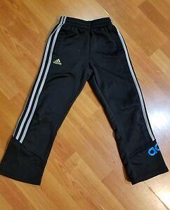 61d31e7cfe51 Image is loading Adidas-Kids-Black-Size-7X-Track-Pants