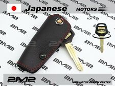 Leather Key fob Holder Case Chain Cover FIT for HONDA CB1300 GOLDWING F6B MKH03