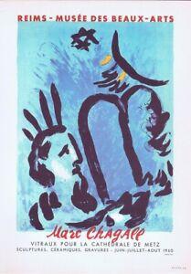 Marc-Chagall-Reims-Musee-des-Beaux-Arts-Affiche-Lithographie-10-034-X-14-034-1966