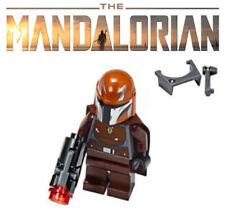 LOT OF 5 New Lego Minifigure Headgear Gray Mandalorian Helmets NEW Jango Boba