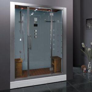 Image Is Loading Ariel Platinum DZ972F8 White Steam Shower  Acupressure Massage