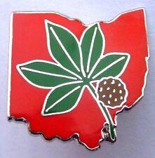 OSU Ohio State Buckeyes Leaf Rose Bowl Football Hat Jacket Vest Tie Lapel PIN