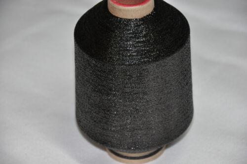 1 Spule Metallgarn GP 29,80 €//kg schwarz weben Glitzer 83.000 m//kg Beilaufgarn