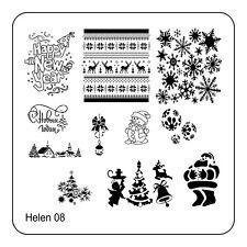 Christmas Xmas Manicure Template Nail Art Printing Image Polish Stamp Plate H-08