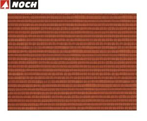 NOCH-H0-56670-3D-Kartonplatte-Mauerplatte-034-Dachziegel-034-1-m-57-28-NEU