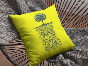 Smooth Linen Family Tree Genealogy Gift Know Your Roots Cushion Cover