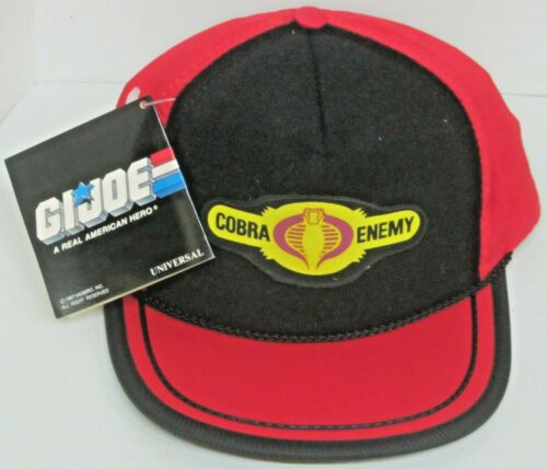 Vintage GI Joe Multi-Color Youth Adj Snap Back Hat With Patches By Universal