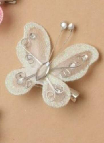 Girls Net Butterfly Beak Clip Grip Slide Hair Accessories Gift Kids HairClip