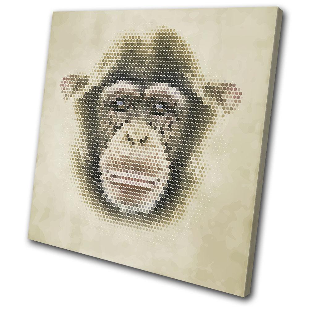 Geometric Asbtract Monkey Animals SINGLE TELA parete arte foto foto foto stampa c55fc0