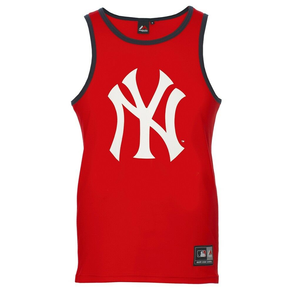 Majestic MLB New York Yankees Coulson Sports Vest Shirt red A1NYY4150RED015