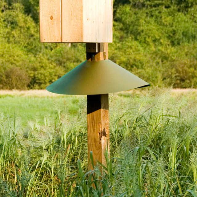 Woodlink Post Mount Squirrel Baffle Green 22 Inch Baf3gr For Sale Online Ebay