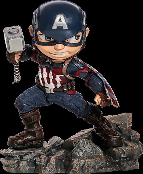 Marvel Avengers Endgame Captain America Mini Co.figure Iron Studios Sideshow on eBay thumbnail