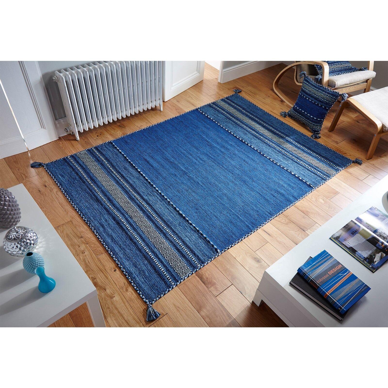 Style ethnique Kelim Tapis Bleu dans dans dans différentes tailles Runner et housses de coussin | De Qualité Supérieure  9dc4da