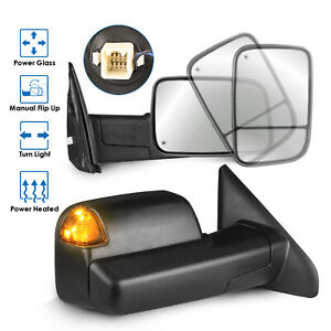 2PCS Power Heated Towing Mirrors for 02-08 Dodge Ram 1500 03-09 Ram 2500/3500