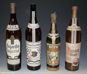 4-x-leere-GROssE-Schauflaschen-Dekoflaschen-fuer-Schaufenster-um-1960