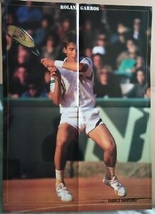 FABRICE-SANTORO-Original-Vintage-Tennis-Magazine-Poster