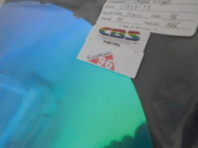 """Red on Thin Clear 3/""""Sq Dichroic Glass:CBS 96 COE Aurora Borealis Cyan//Dk"""