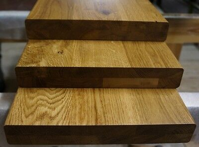 Treppenstufe Eiche Rustikal massiv 40mm 2-fach verleimt durchgehende Lamellen