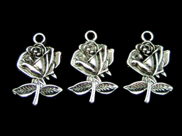 10pcs Retro Tibetan Silver Hollow out Leaves earring Pendant Charms Accessories