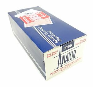AVIATOR-Pinochle-Playing-Cards-918R-12-Decks-6-Blue-6-Red-Brand-New-Sealed