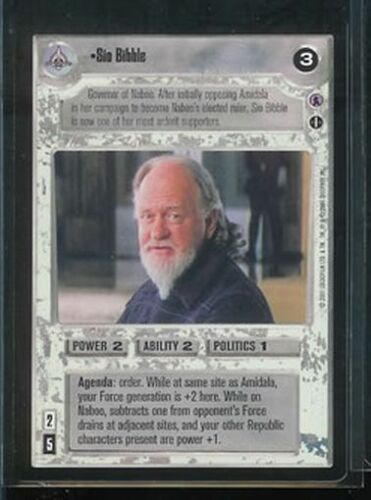 Star Wars CCG Reflections III Sio Bibble