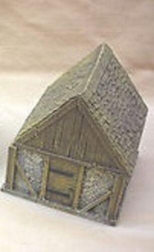 28MM PMC GAMES ME67 PAINTED SMALL OUTBUILDING SINGLE DOOR MEDIEVAL