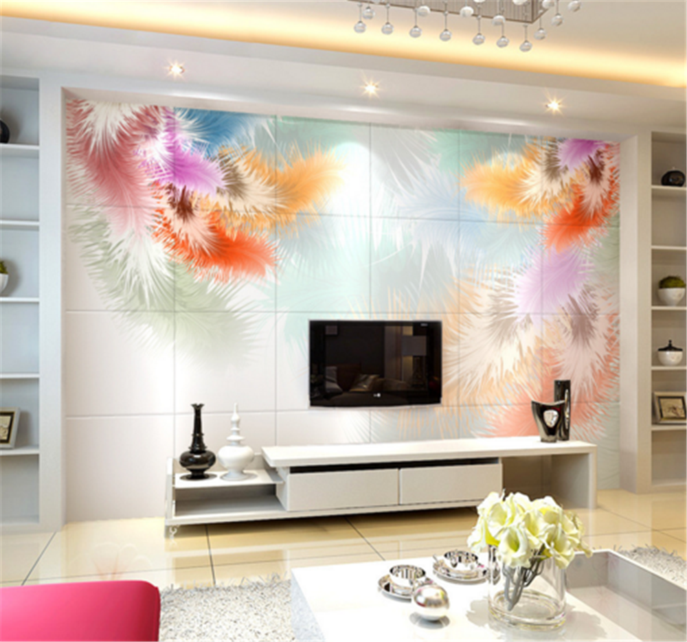 3D Farbeed Feather 72 Wallpaper Mural Paper Wall Print Wallpaper Murals UK Carly