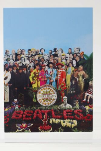 THE BEATLES Sgt.Pepper/'s Lonely Hearts Club Band Kunst-Postkarte