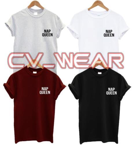 NAP QUEEN Poche T Shirt besoin de plus de sommeil tee Tumblr blog Hipster Mode Rétro