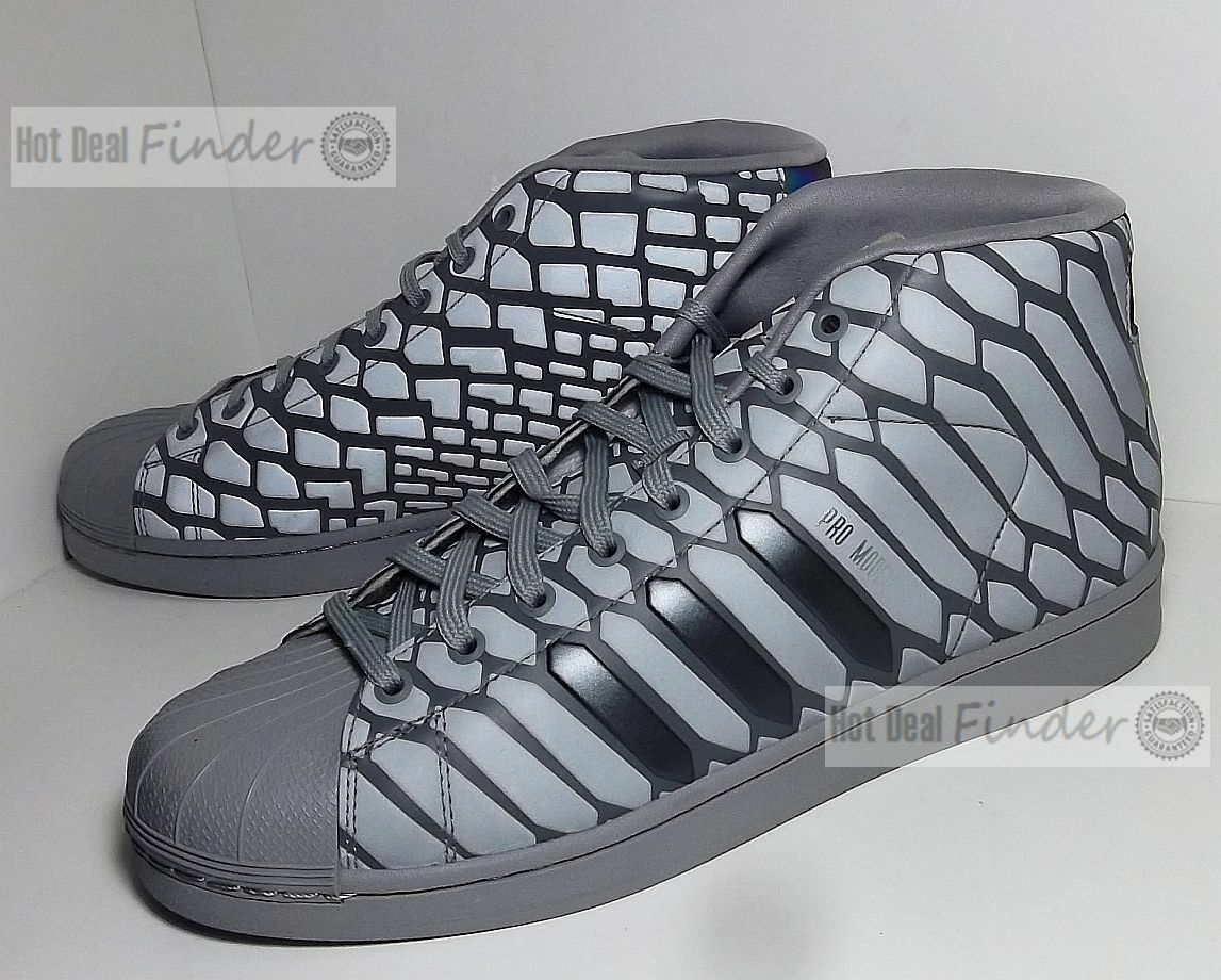 NEW ADIDAS PRO MODEL = SIZE 10.5 = XENO REFLECTIVE MEN'S SHOES Q16535