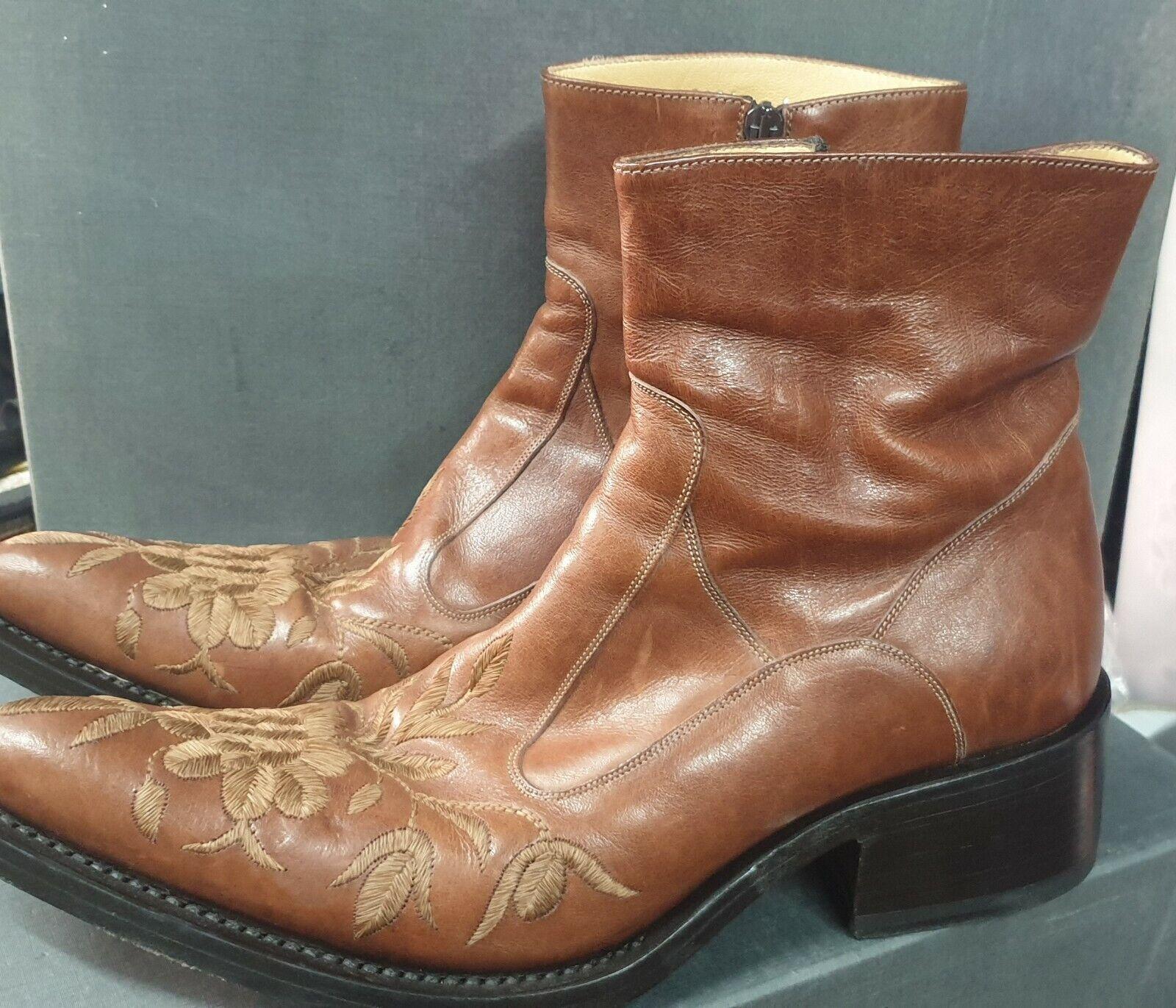 Ricardo barbato cowboy boots s41 VGC rrp