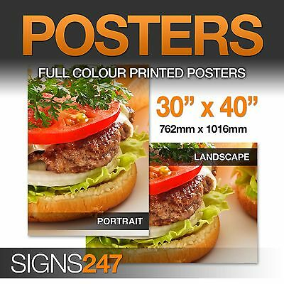 20/'/' x 30/'/' Full Colour SATIN Poster Printing FREE DELIVERY!