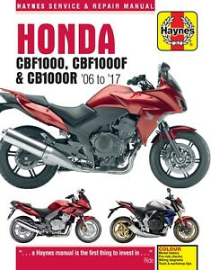 Honda Cb1000r Cb 1000r Haynes Manual Repair Manual Workshop Manual