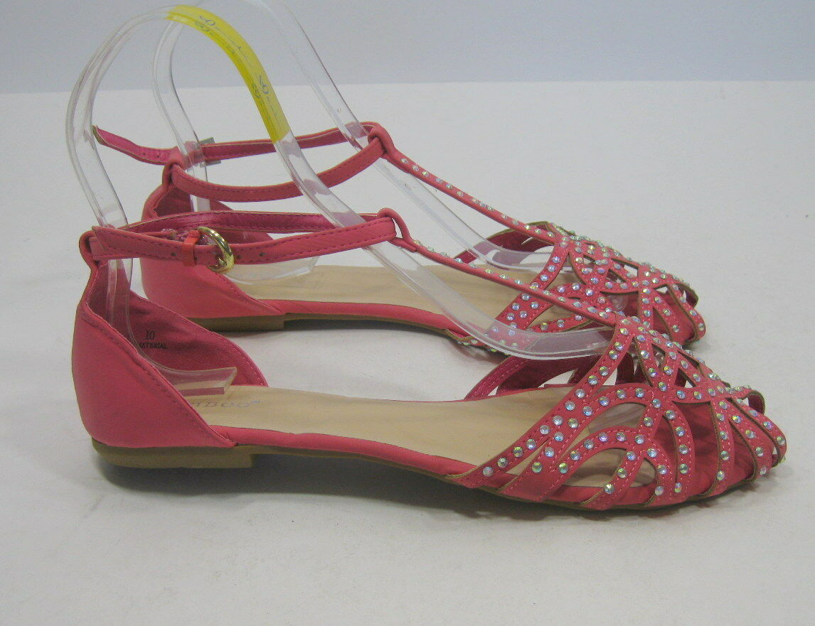 Summer Sandals Pink/Rhinestone Womens Shoes Sexy Sandals Summer Size 8 58fa26