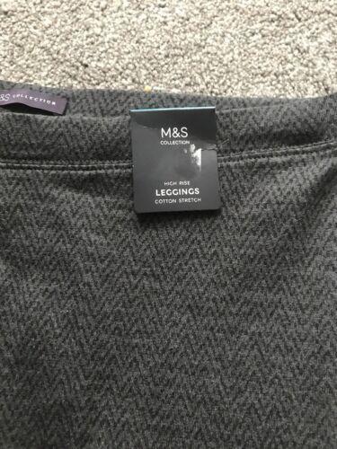 BNWT Ladies Leggings M/&S size 12 Regular Grey Mix High Rise Free P/&p