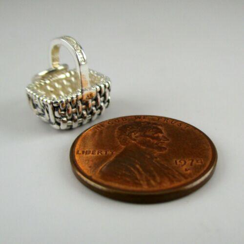 Sterling Silver HOLLANDER BASKET Charm MINI For Bracele NECKLACE PENDANT Vintage