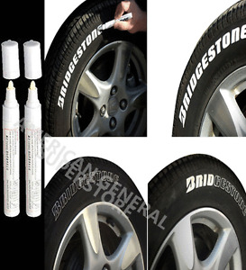 PAINT PEN TWO White Marker Waterproof Permanent Car Tire Lettering Rubber Letter