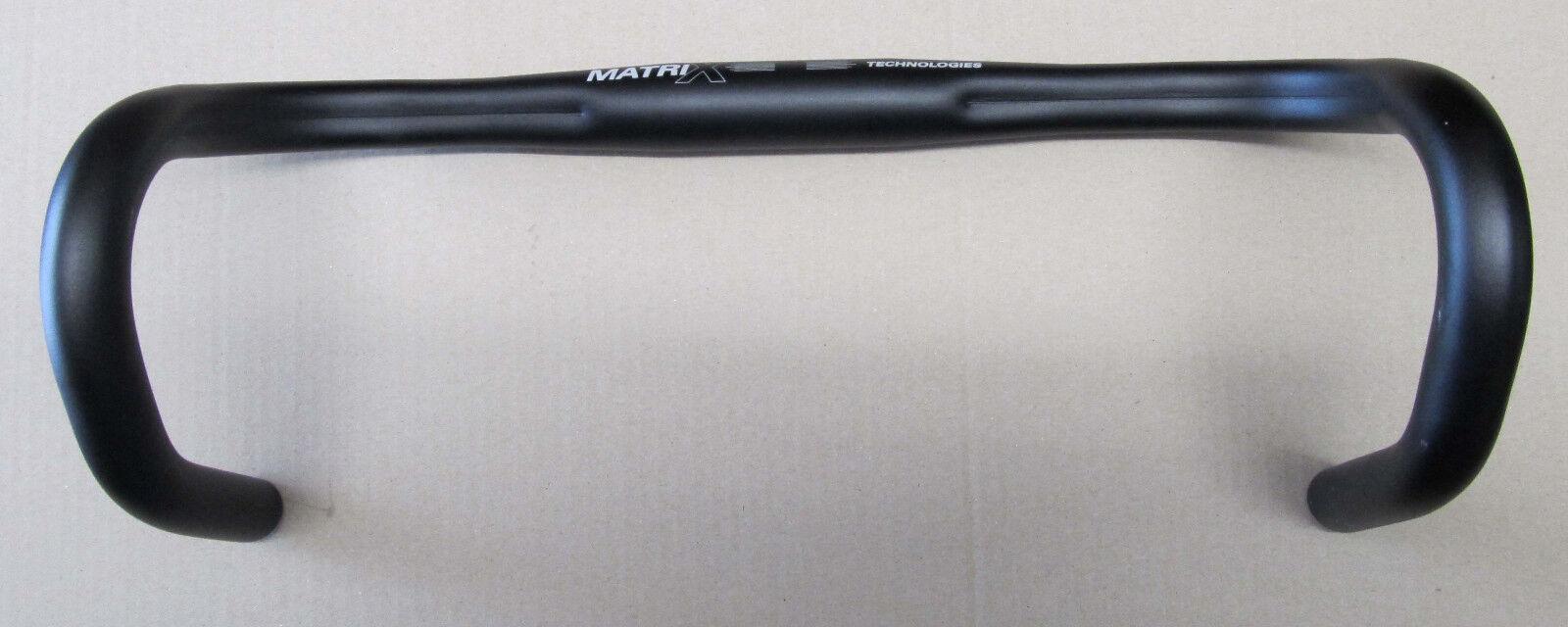 Matrix Kalloy AL049L Alu Rennrad Lenker 44cm black 31,8mm 440gramm NEU