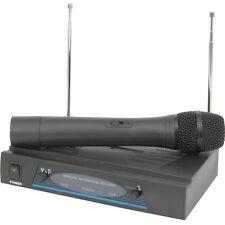 50m Wireless Microphone Receiver System–VHF Handheld Singer Karaoke/Tannoy Radio