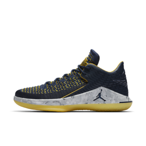Nike Air Jordan XXXII Low PF 32 Michigan College Navy Men Basketball BRAND NEW!
