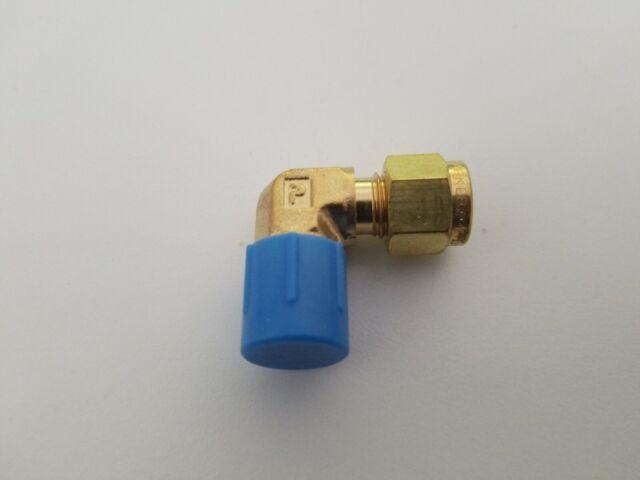 """1//4/"""" Tube x 1//4/"""" MNPT Male Brass Elbow Fitting Parker A-LOK 4MSEL4N-B"""