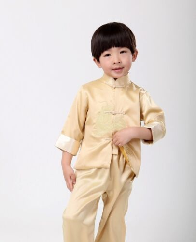 Brand New Arrival Lovely Chinese Boy/'s Embroider Dragon Kung Fu Sets Suit